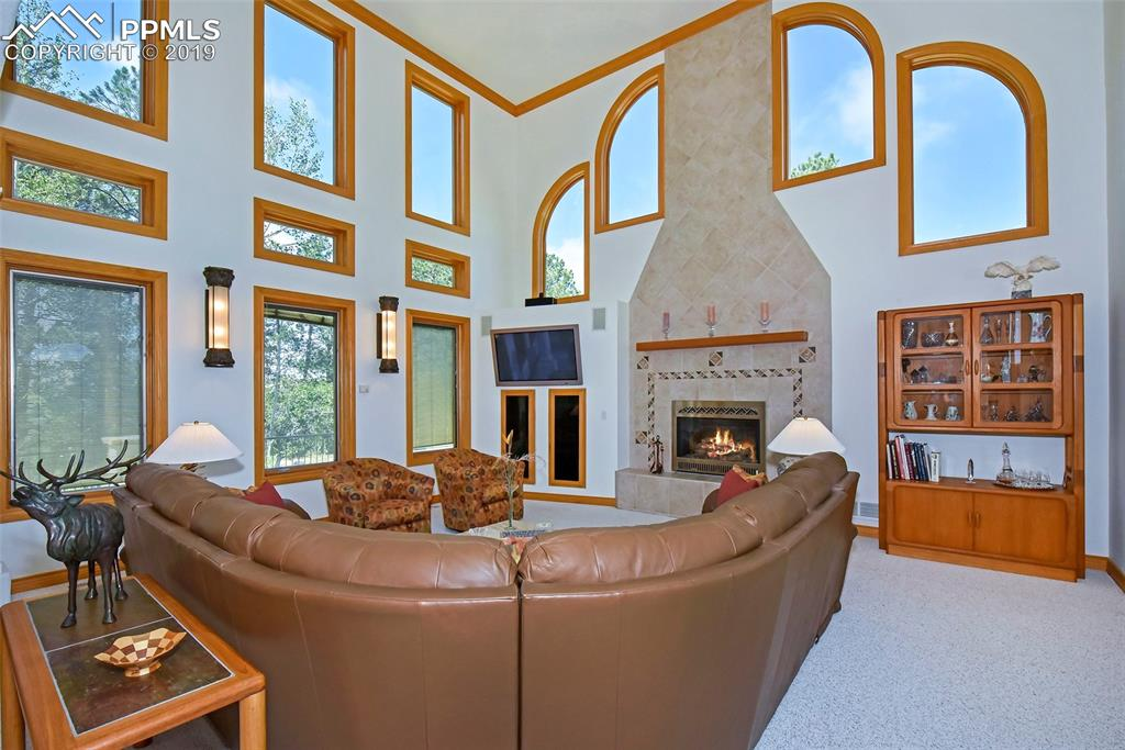 Amazing Living Room, Gas Log Fireplace
