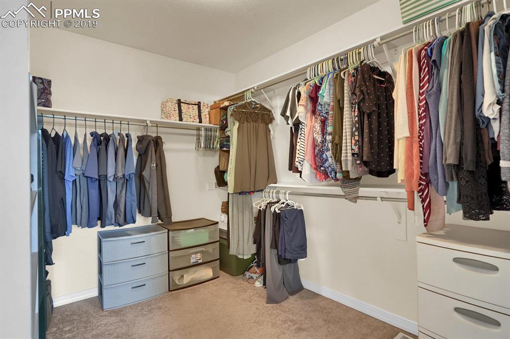 Great walk-in closet in master suite