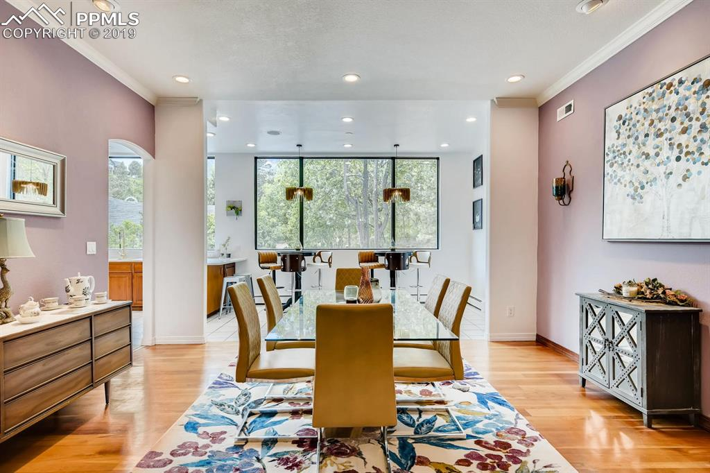 The large dining room is perfect for entertaining!