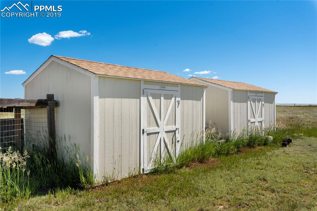 2 10x10 sheds.  One can be a chicken coop!