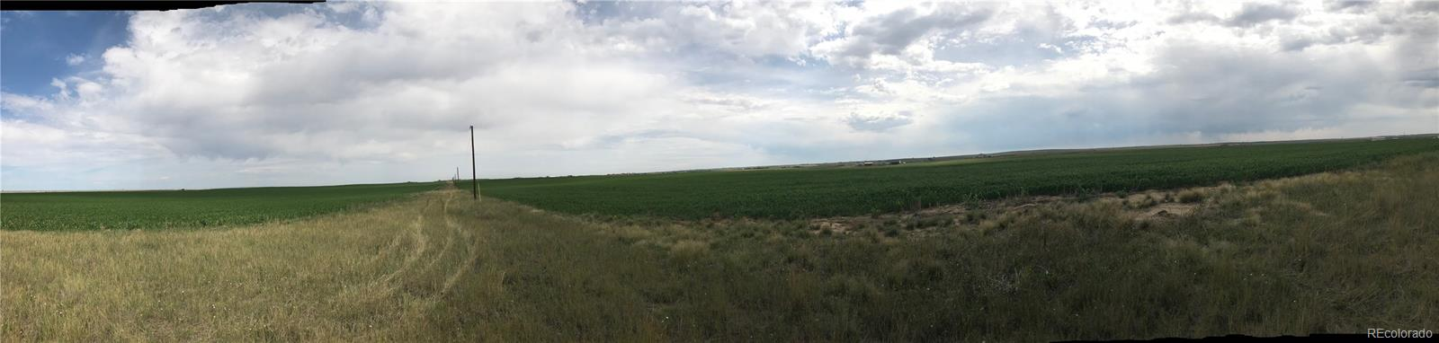 Wide angled view from south side of property to the north