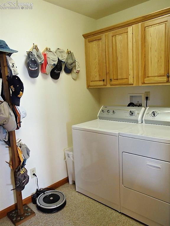 Main level laundry off mudroom from garage