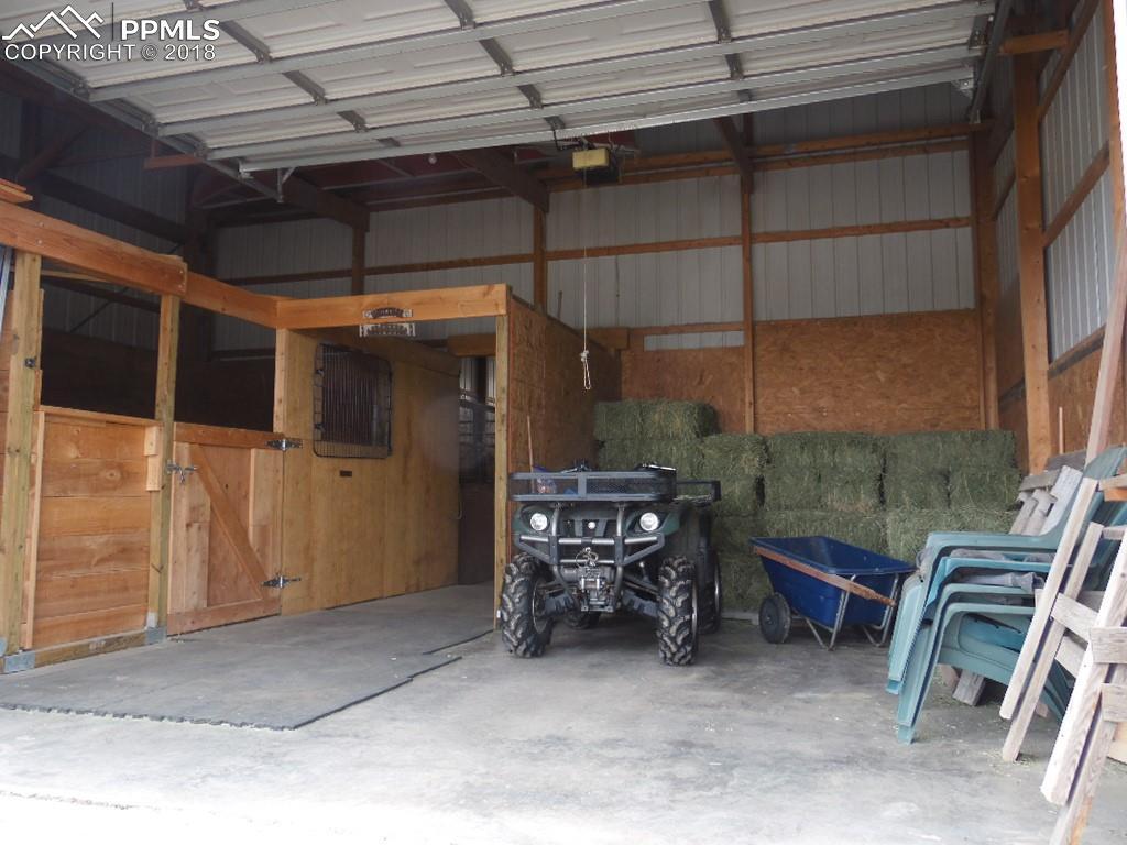 Stallion/Foaling Stall, Concrete Provides Flexible Options, Overhead Garage Door