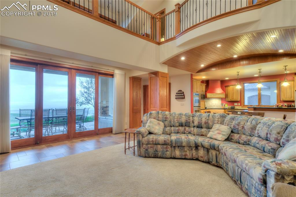 ~ Master suite with picture windows, custom lighting, & views!~