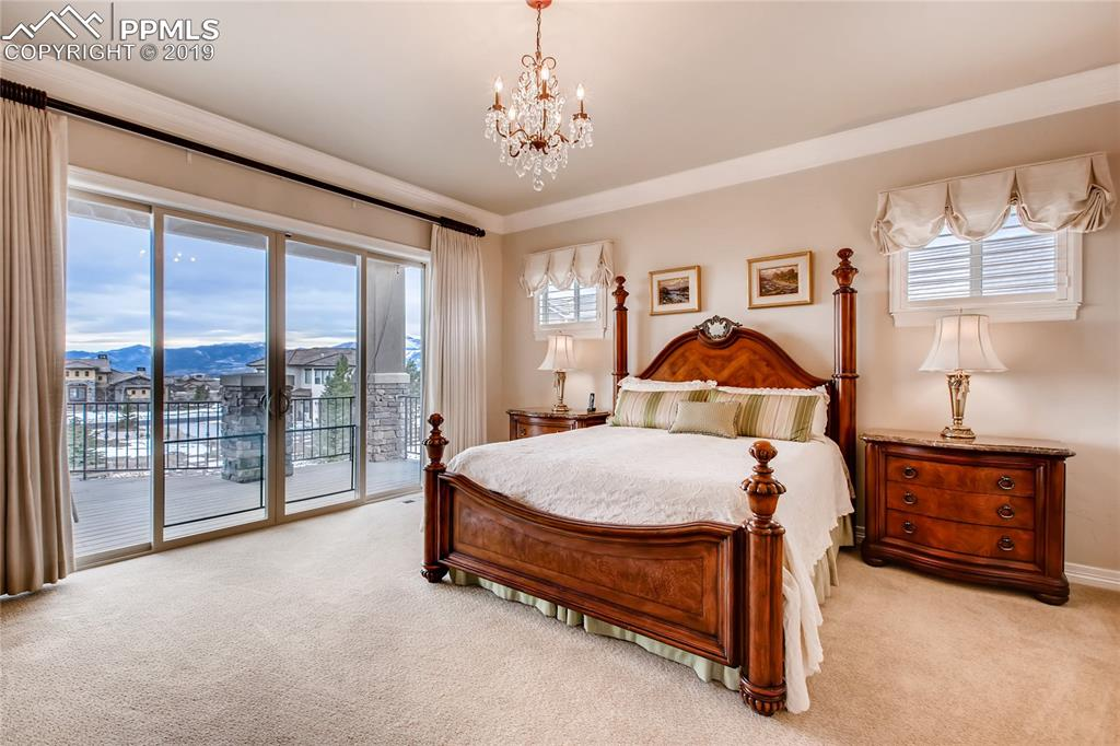 Stunning master suite with breathtaking view of the mountains.