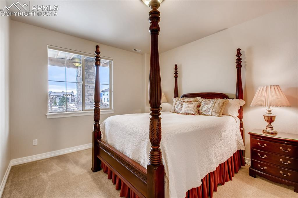 Lower level bedroom with adjoining bath
