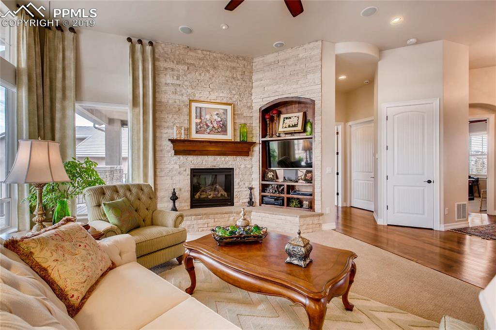 Open floor plan and fresh paint throughout the main level