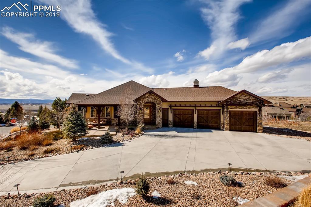 Stunning custom estate in Crystal Valley Ranch!