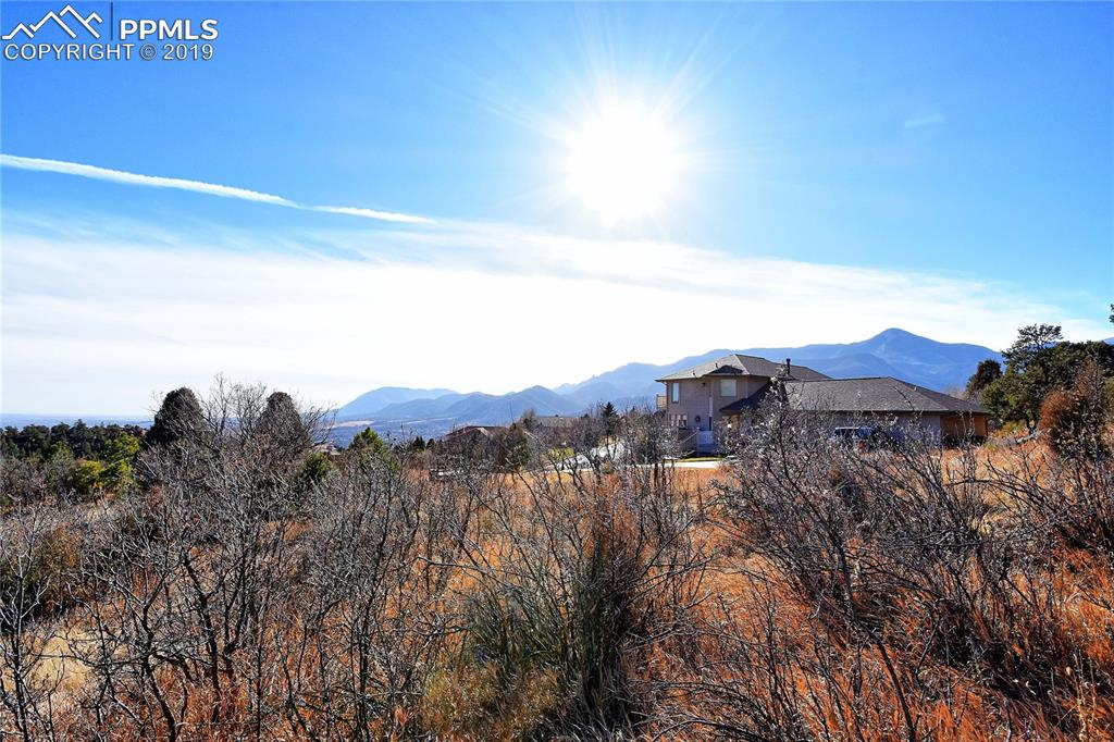 View from the lot looking south - views of Colorado Springs, Cheyenne Mountain and Front Range