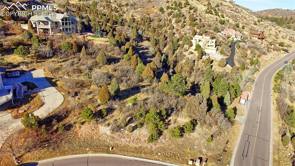 The lot - corner of Black Canyon and Cathedral Spires - adjacent parcels are bui
