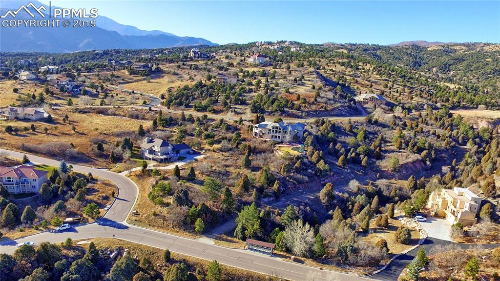 View of the lot and Cedar Heights - looking north/west and west...Pikes Peak in distance on left