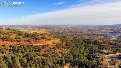 Aerial view looking south/east - Garden of the Gods and Colorado Springs in dist