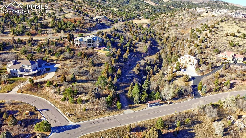 The lot - corner of Black Canyon and Cathedral Spires - adjacent parcels are built on
