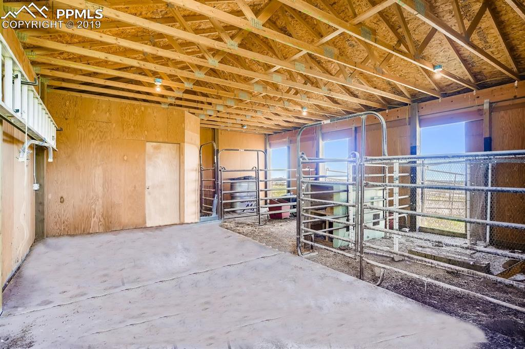 The barn is set up for 3 horses with, tack storage, outer corrals and cross fencing.