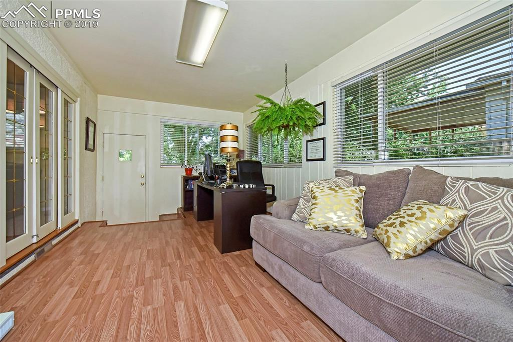 Heated addition/porch makes a perfect office!