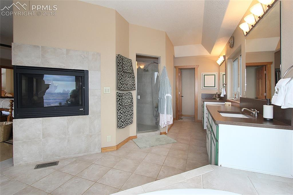 Master bathroom 5 pc with soap stone counters