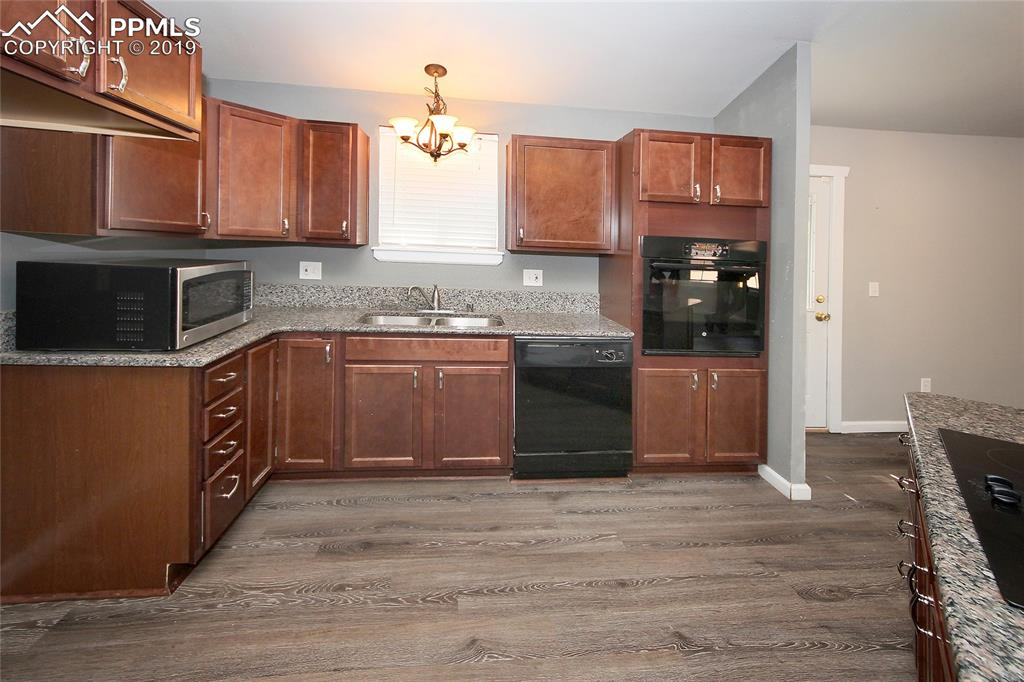 Kitchen with newer flooring