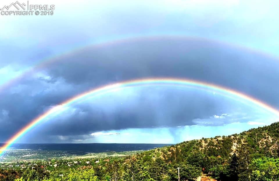 Double rainbow caught on camera from Crystal Park Rd!!!