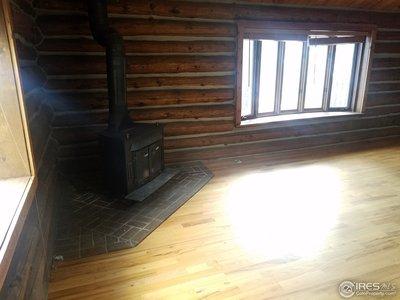 heat stove in kitchen area