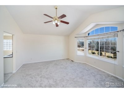 Master bdrm has vaulted ceilings