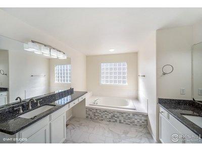 granite countertops, tile floors