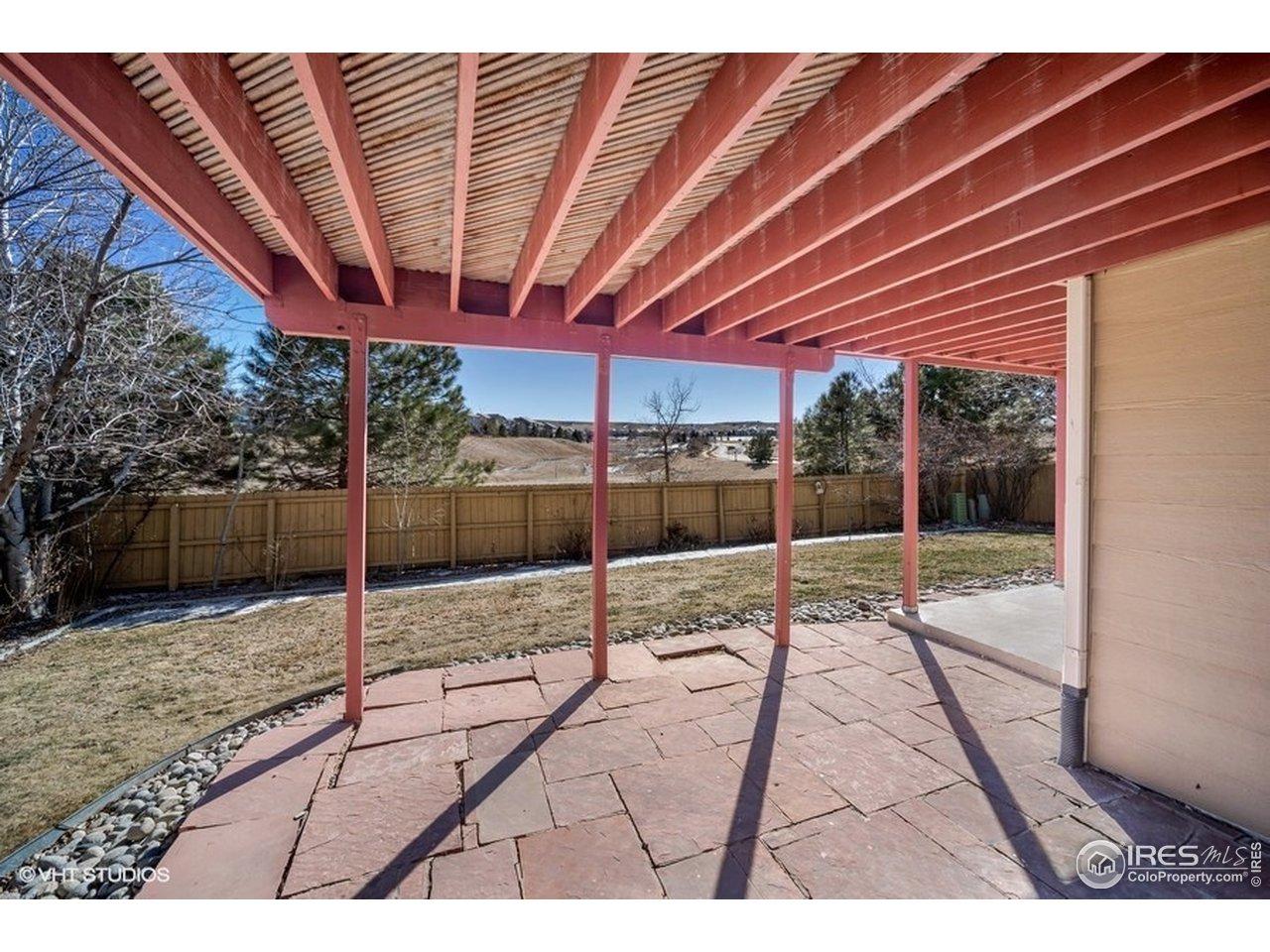 Rear patio