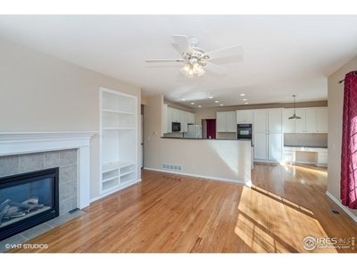 Kitchen overlooks familyroom