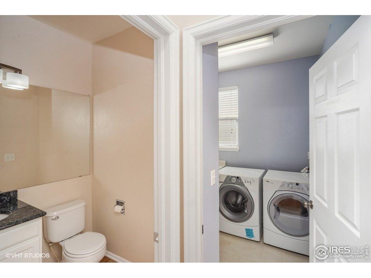 Main floor Laundry & powder room