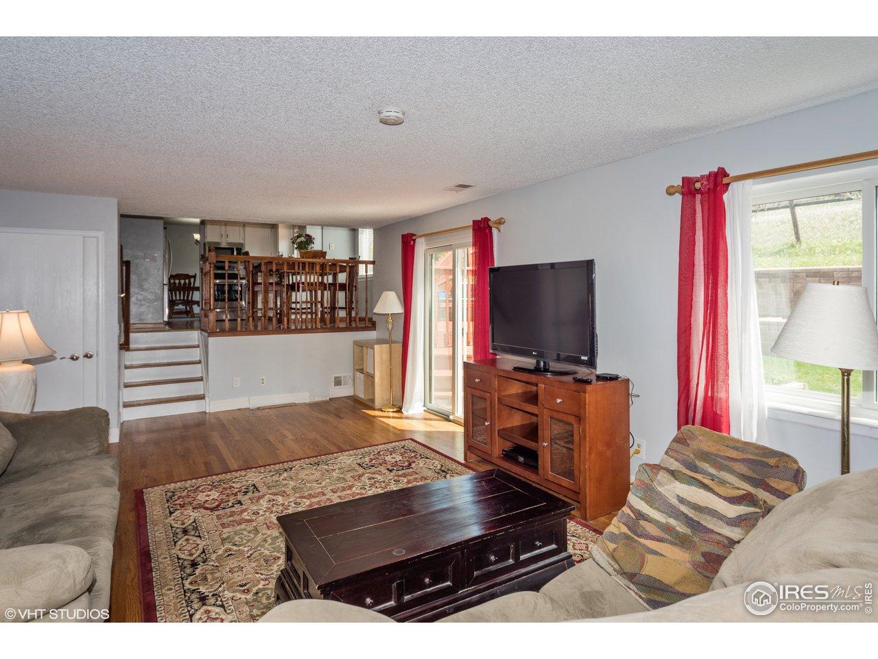Real hardwood floors in Familyroom