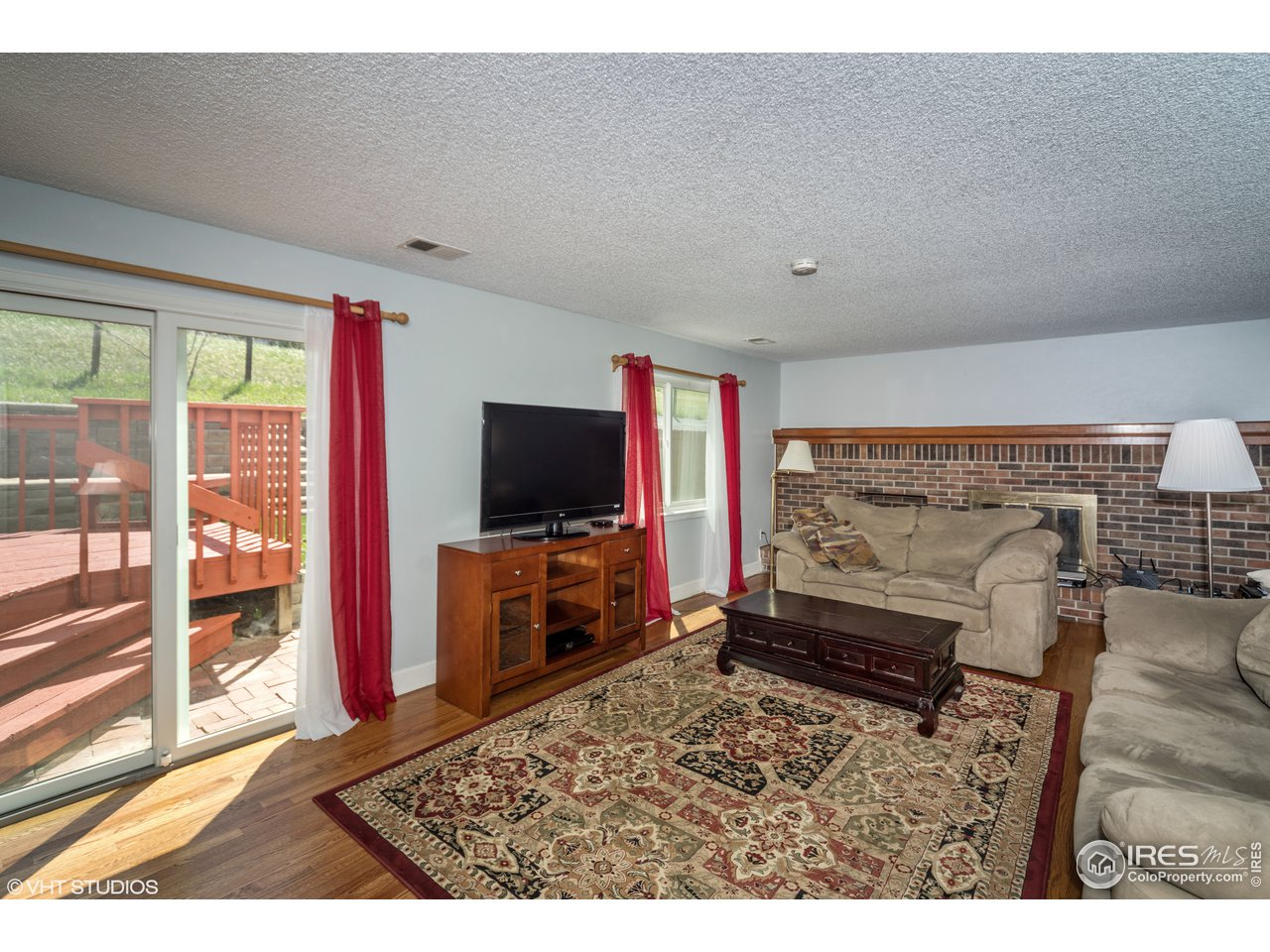 Family room with access to backyard