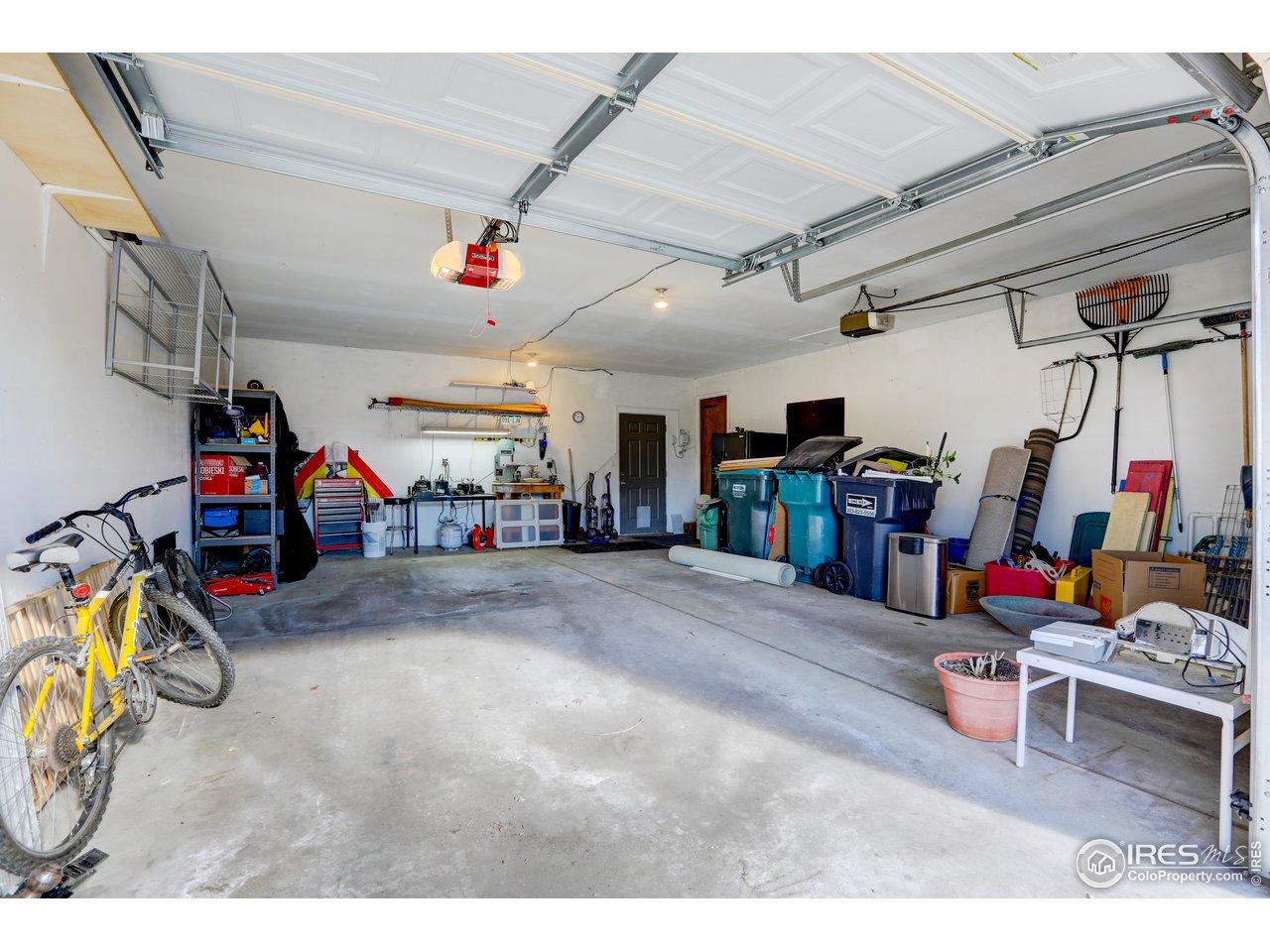 extra deep 2 car garage. 691 sq.ft