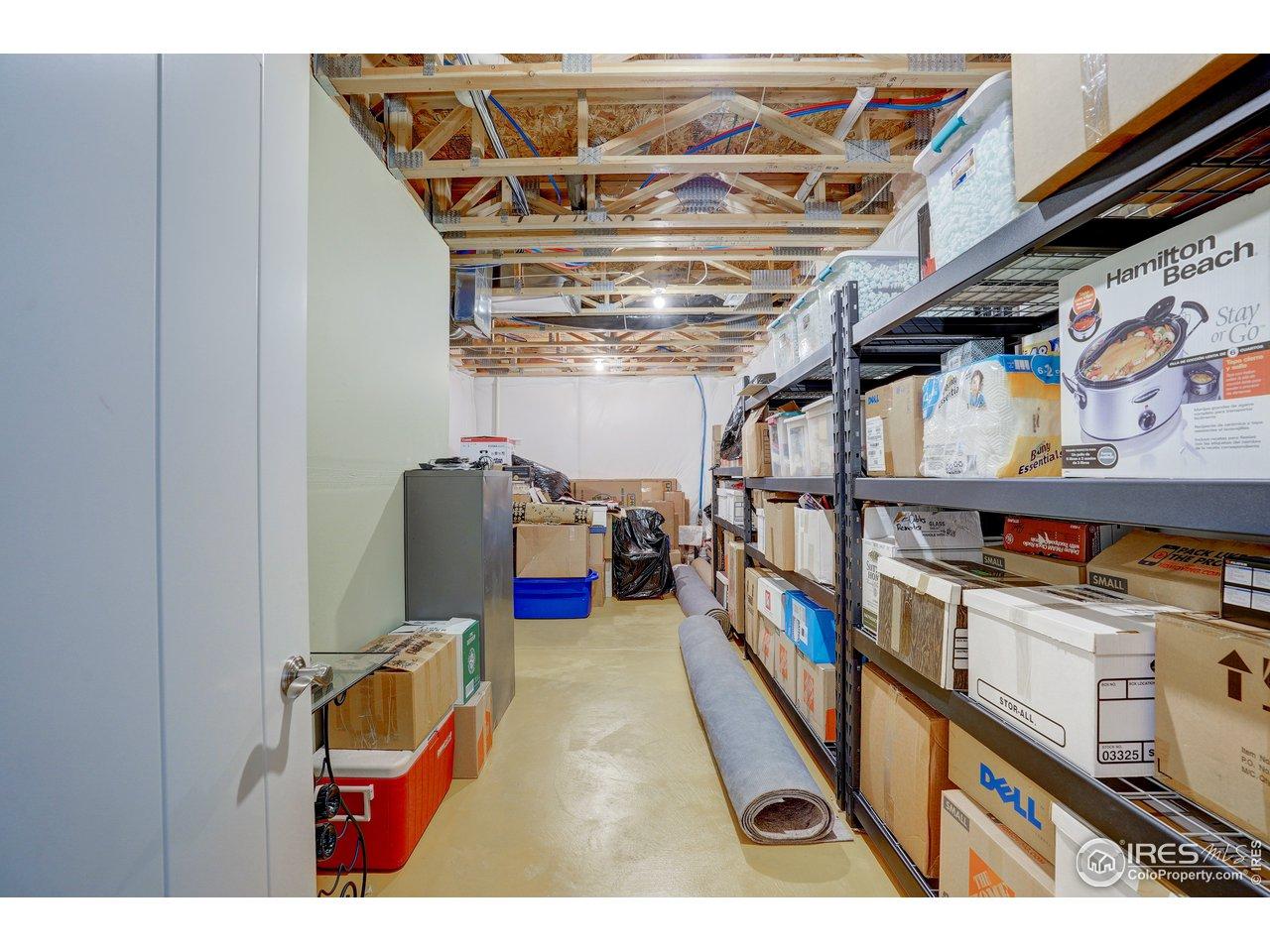 unfinished storage area