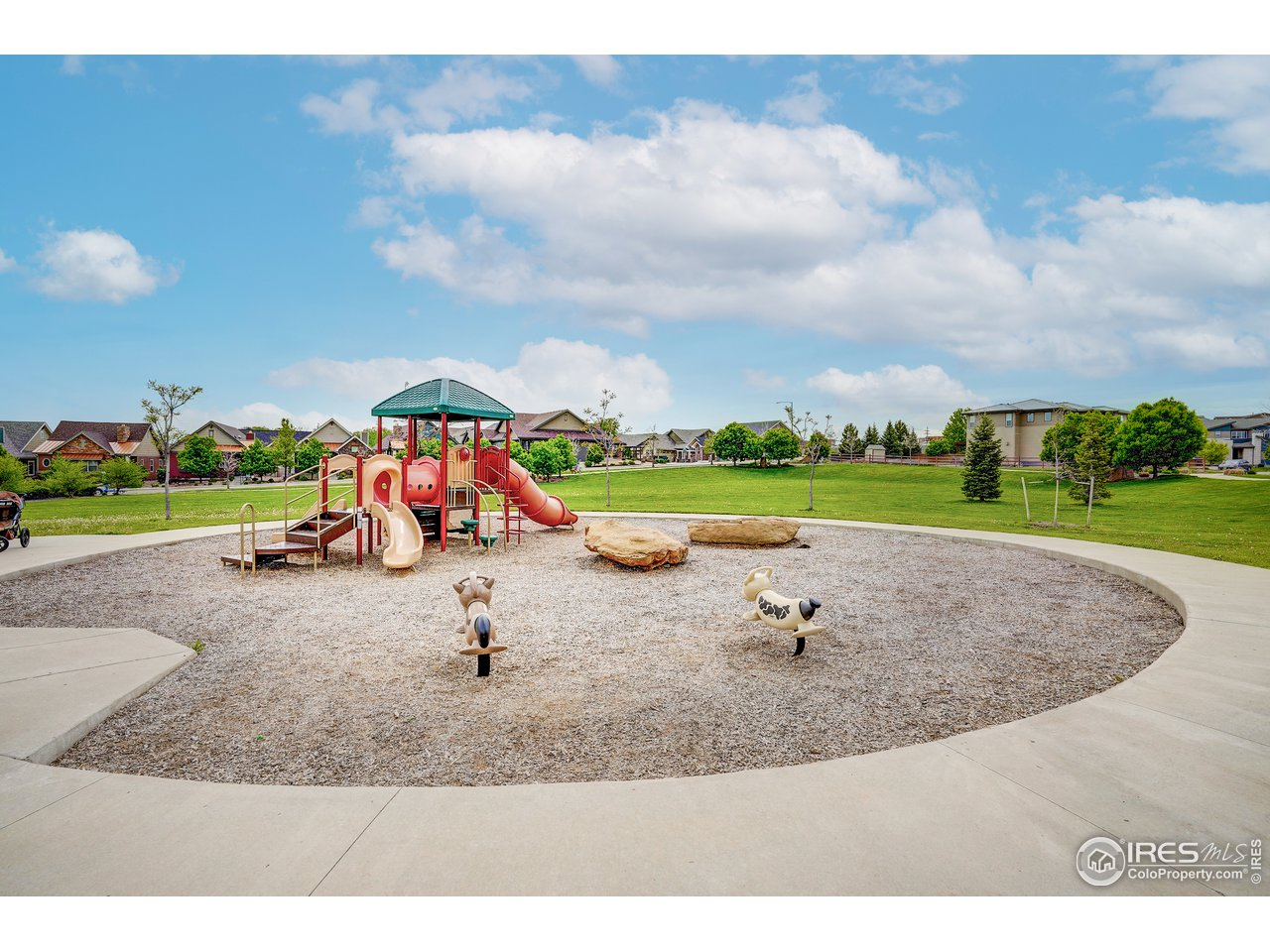 Play area in park just east of home