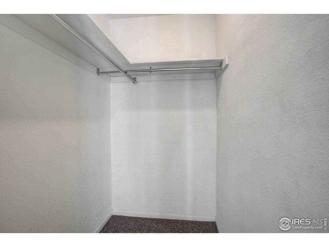walk in closet for main floor bedroom