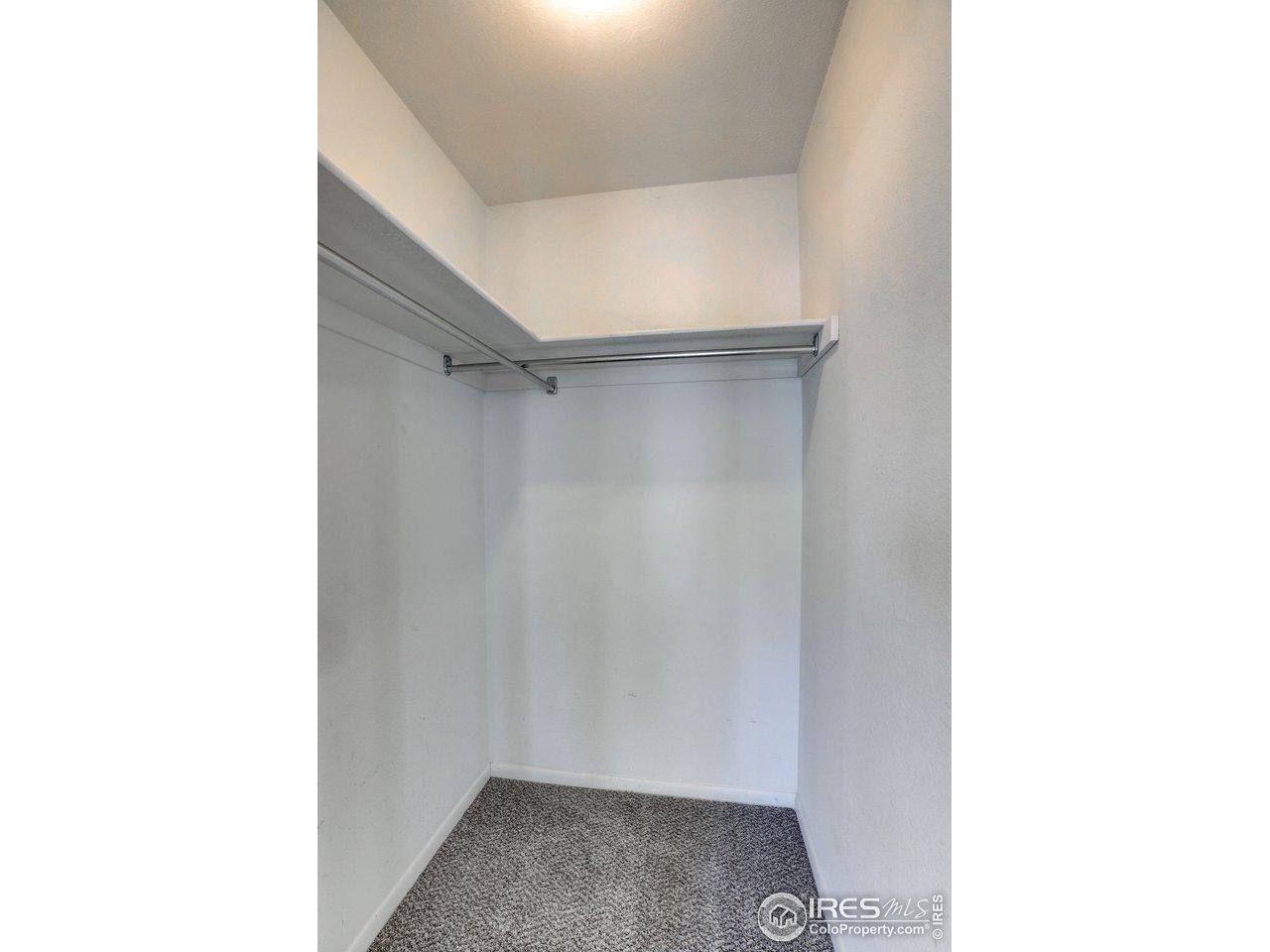 Walk in closet from bedroom #2