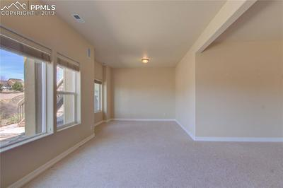 Basement walkout family room with ample windows for natural lighting.