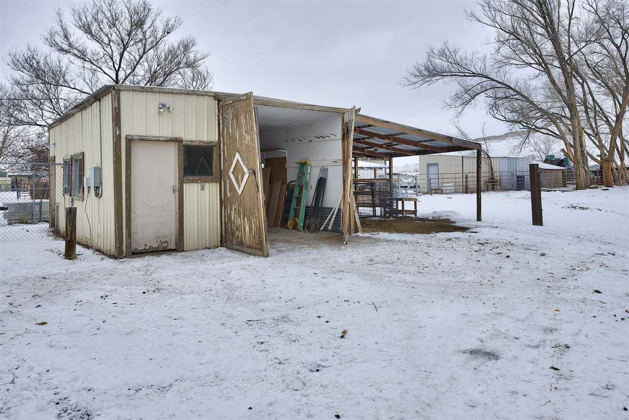 This outbuilding outback has electricity to the building!