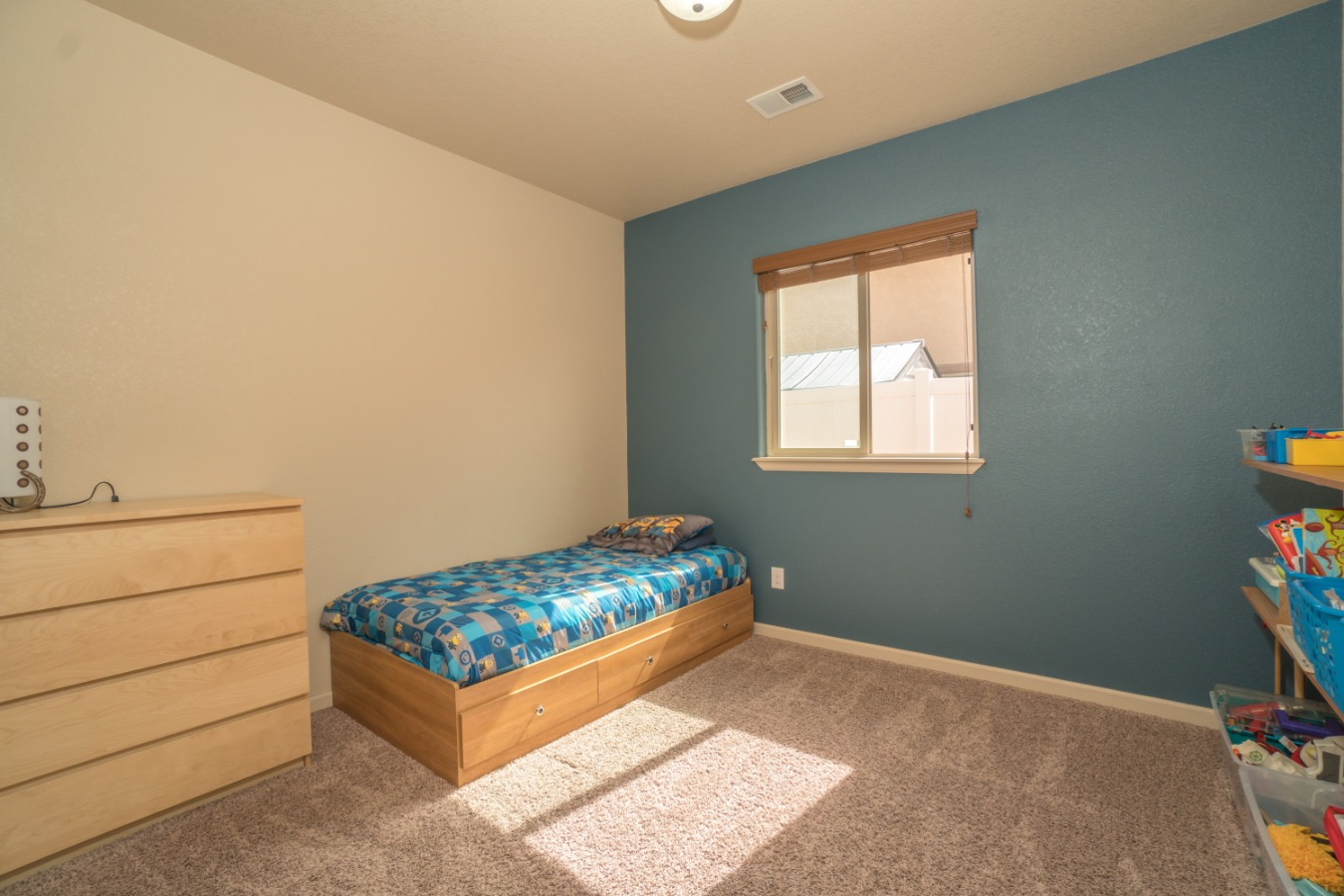 Lovely Accent Wall in This Spacious Third Bedroom!