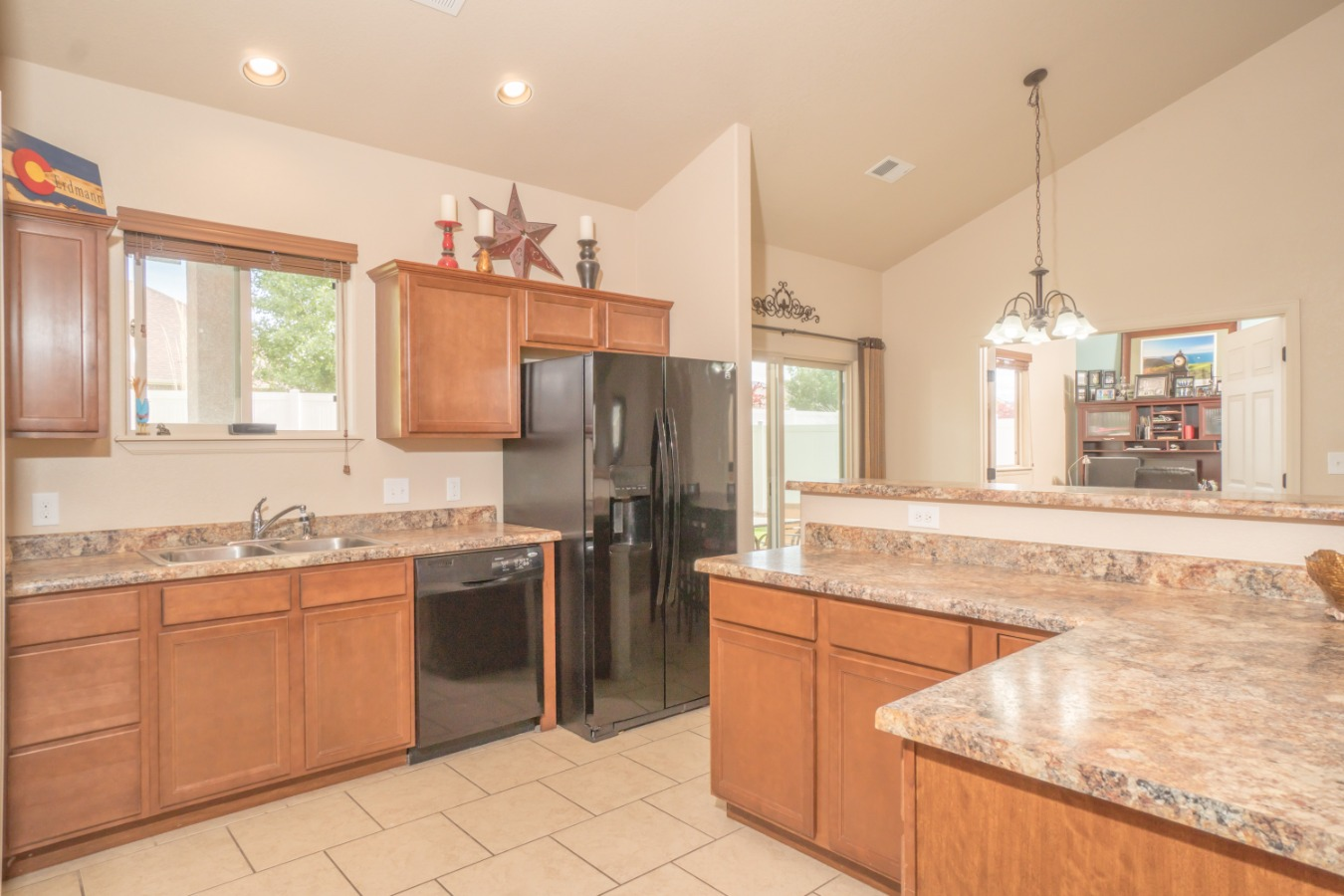 Kitchen Has Tons of Counter & Cabinet Space!