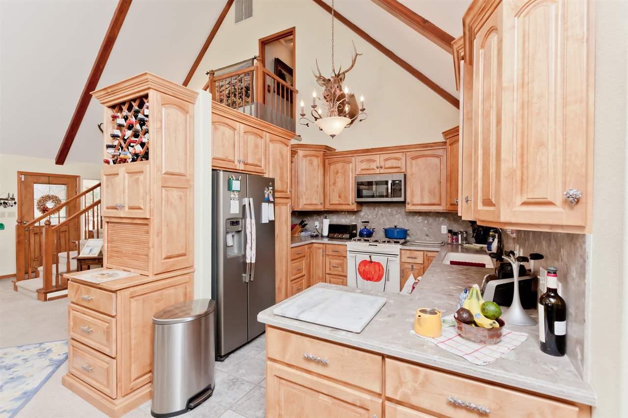 Quality Custom Kitchen Cabinetry with Wine Rack!