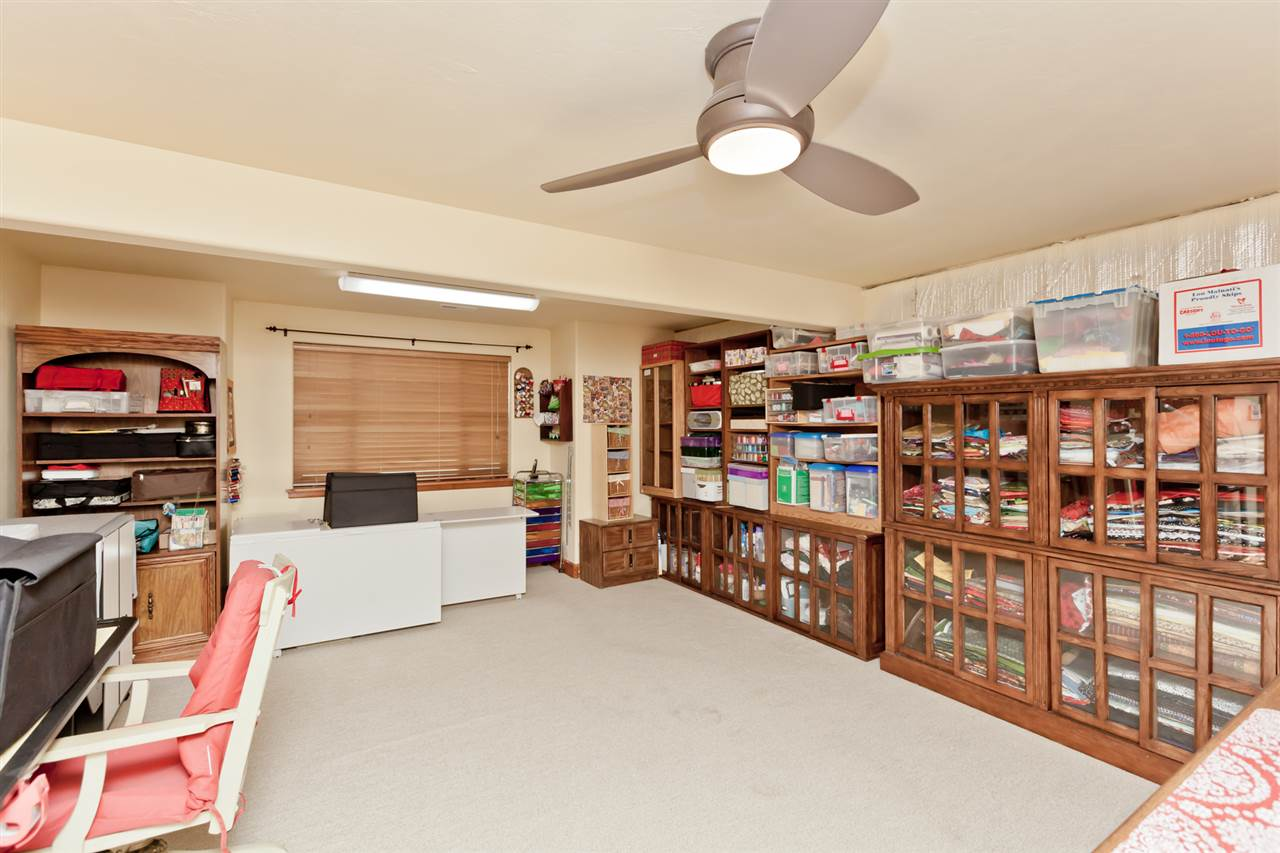 Huge Craft Room in the Fully-Finished Basement!
