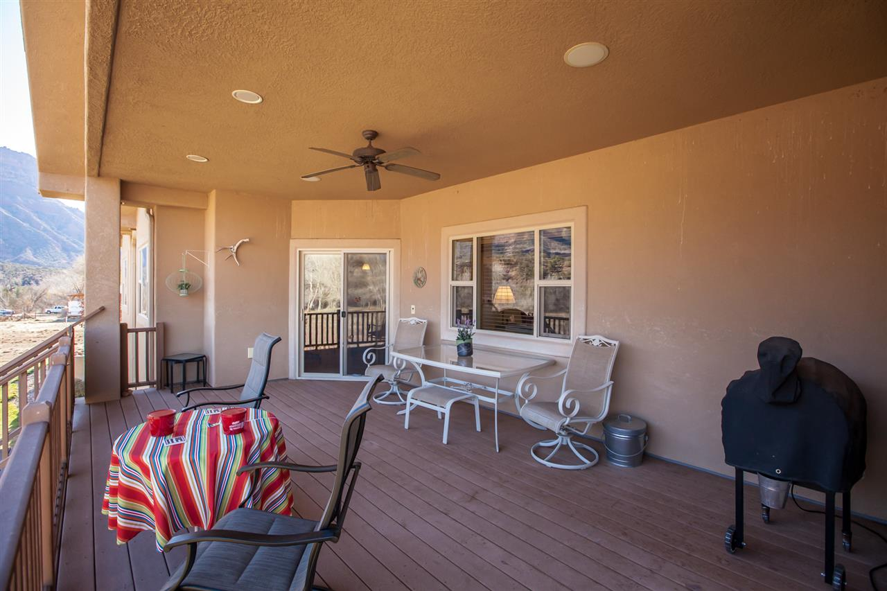 Spacious Under-the-Roofline Covered Back Deck!
