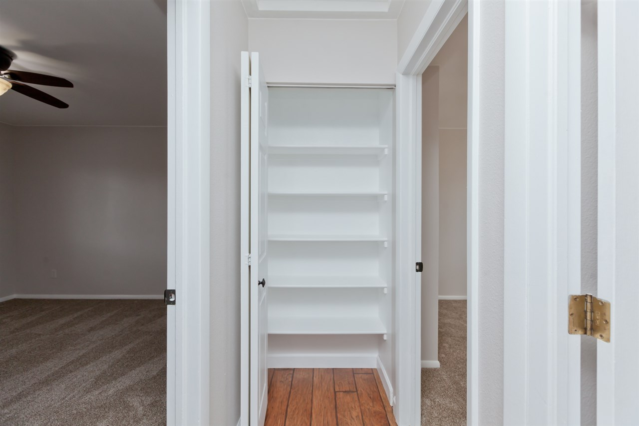 Shelved Hall Linen Closet Situated Near Bedrooms!