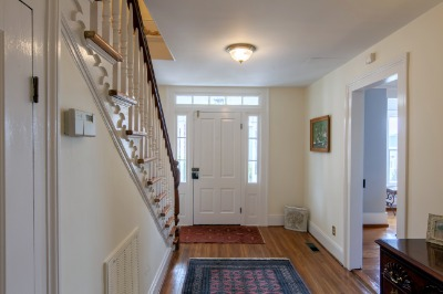 Front Hall with heart pine stairs