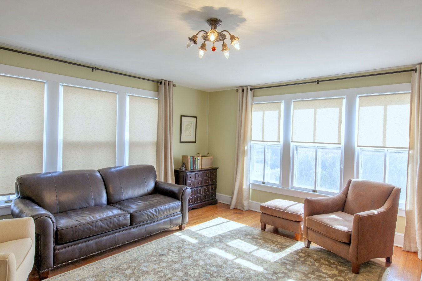 Front living room with windows on two walls