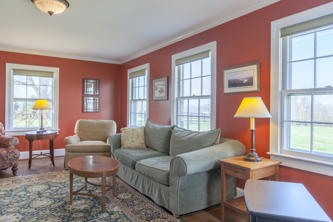 Spacious Family room looks out to the back yard