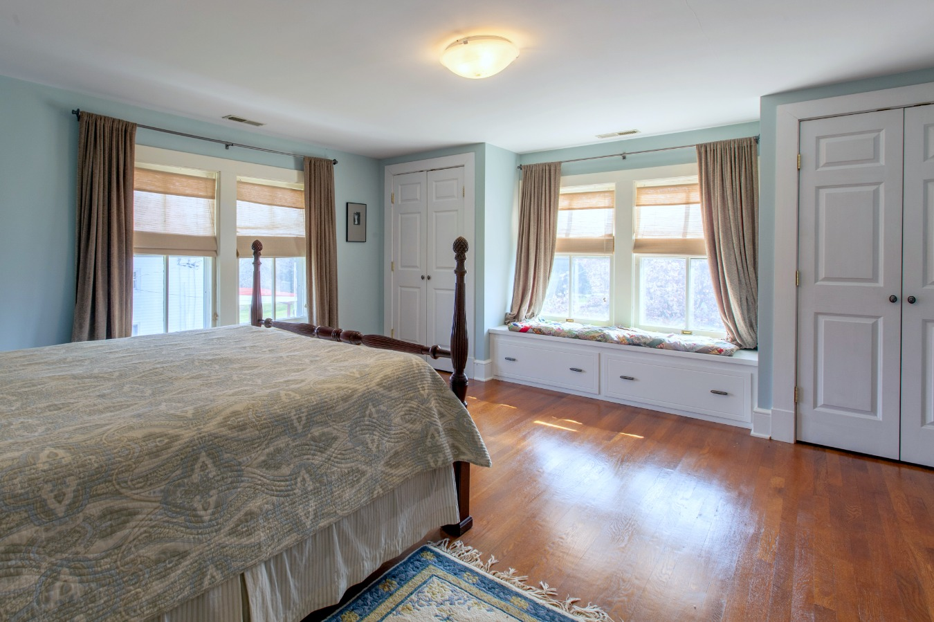 Master Bedroom w/ double closets and window seat