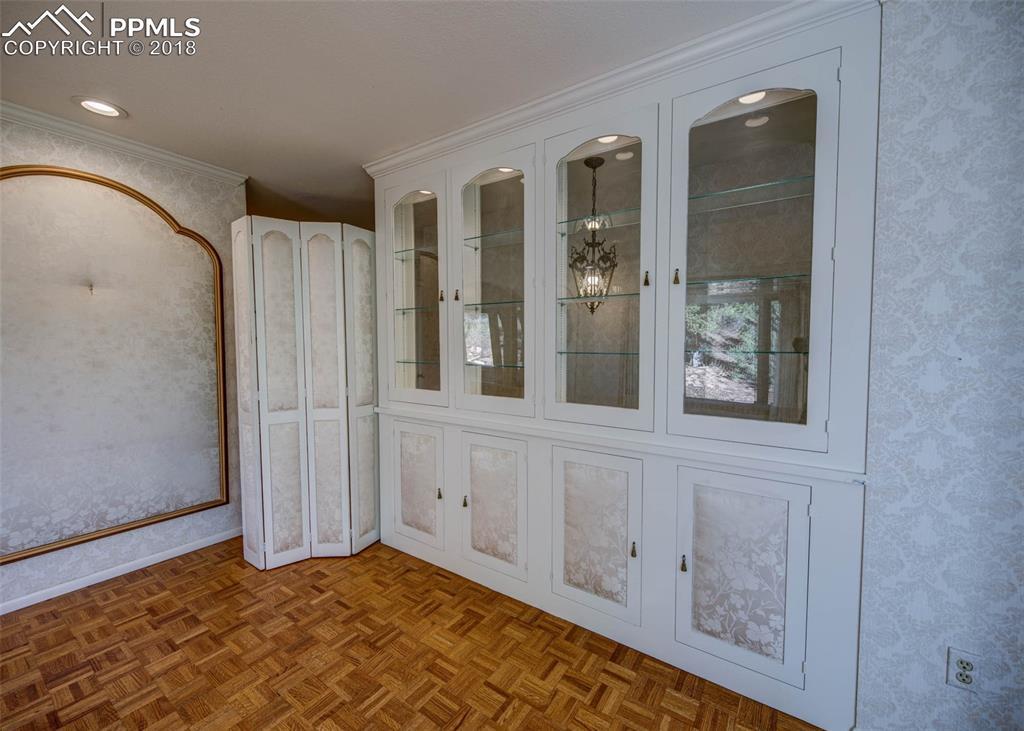 Display case in Living room