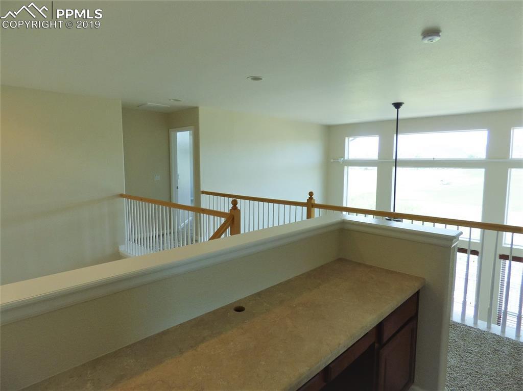 Desk area in upper level
