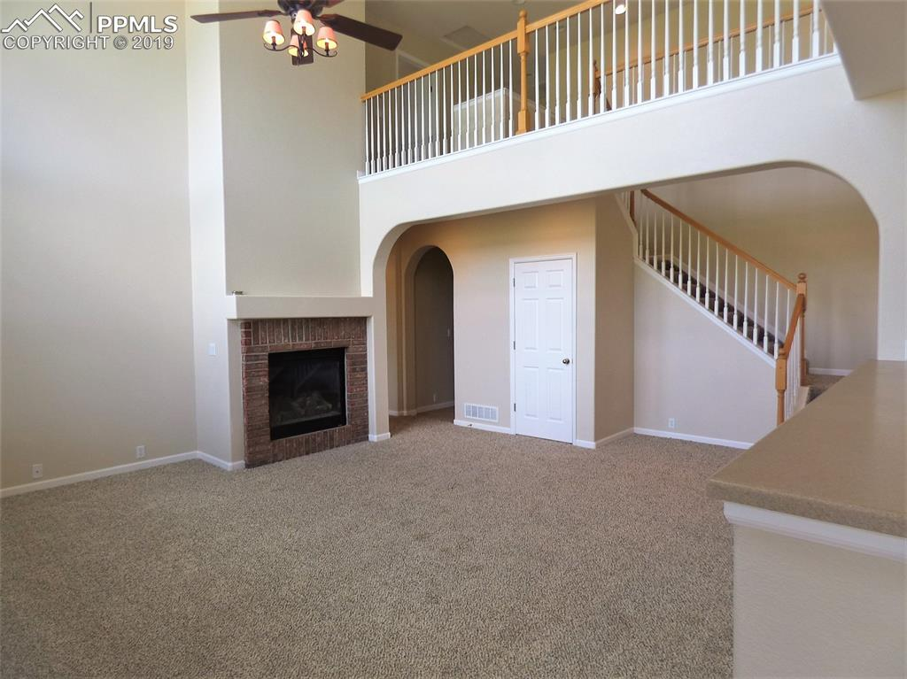 Family room with catwalk above